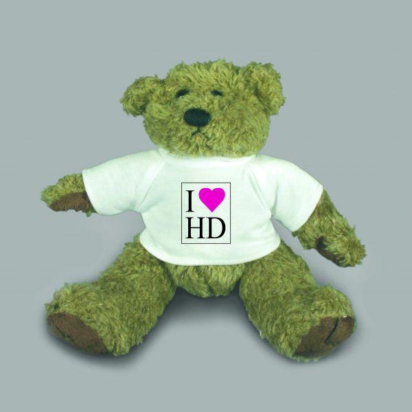 Teddybär Barney I LOVE HD